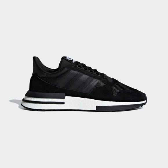 d83cdd4a195cf Adidas ZX 500 RM Black B42227 Men s Size 9.5-11